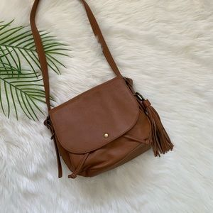 Lucky Brand Crossbody Bag Tan Leather